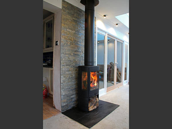 Tiled Fireplace backing