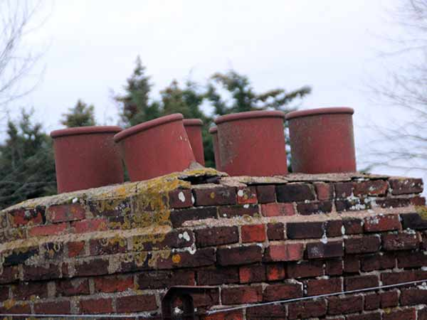 Brick chimney restoration