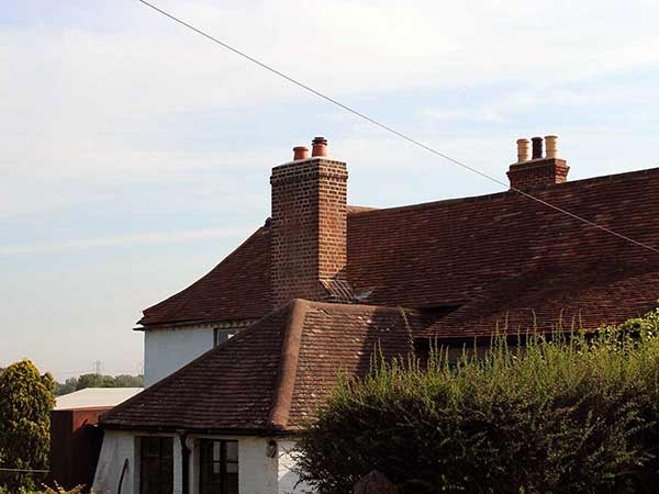repointed Georgian brick chimney