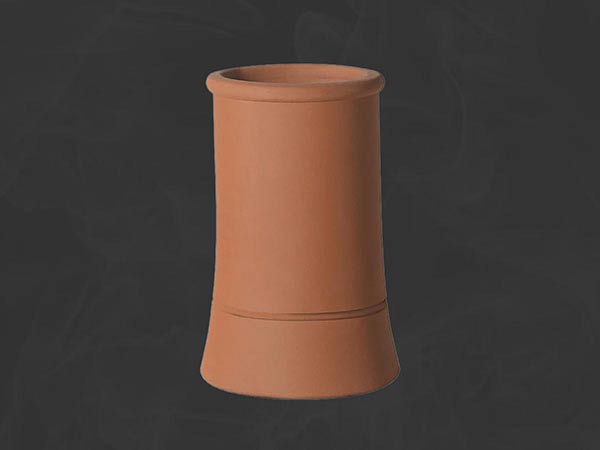 Redbank roll top chimney pot