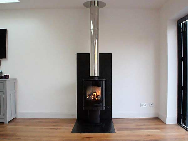 modern stove fireplace design