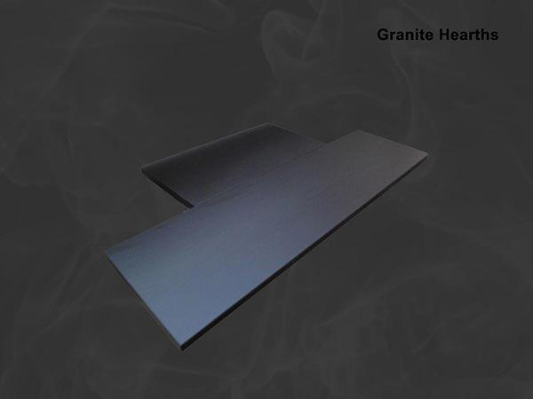 Bespoke granite hearth