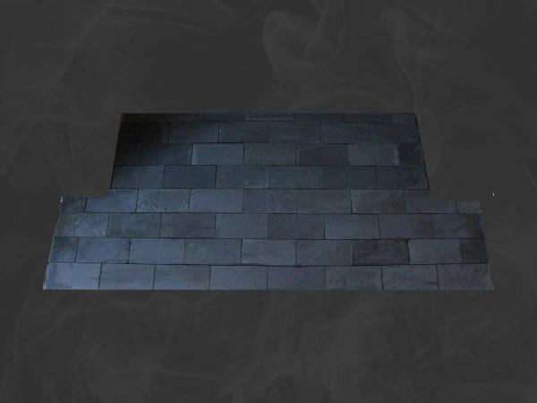 slate tiled hearth