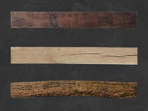 fireplace oak beams