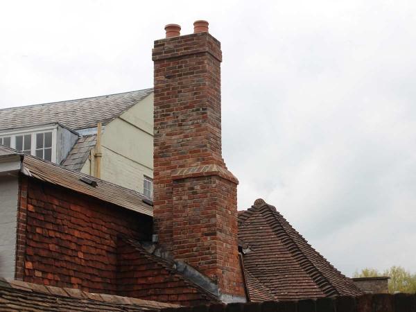 Rebuilt Georgian chimney