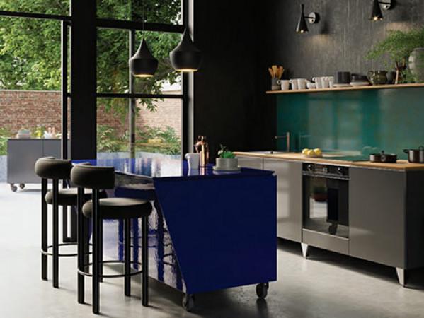 Blue vlaze adapt kitchen