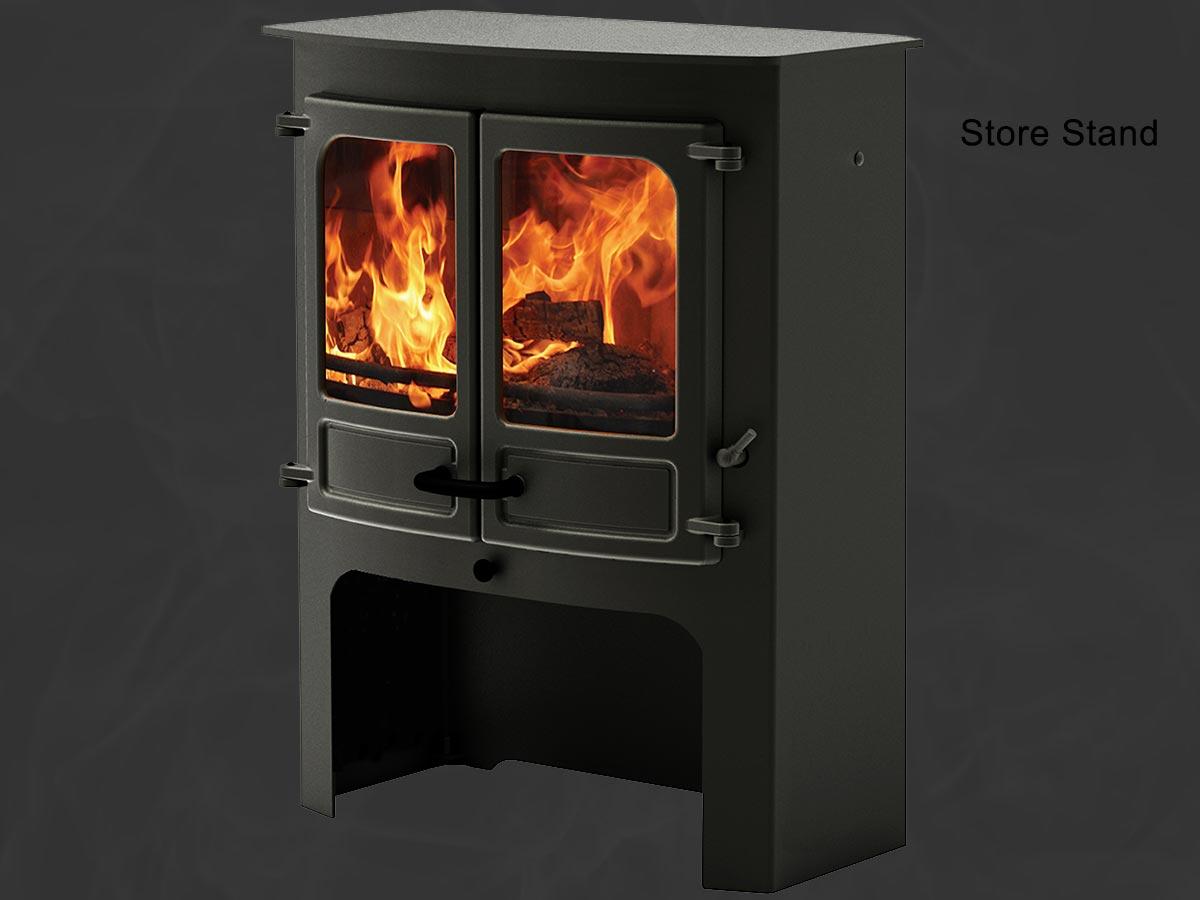 Charnwood island 3b boiler stove log store stand