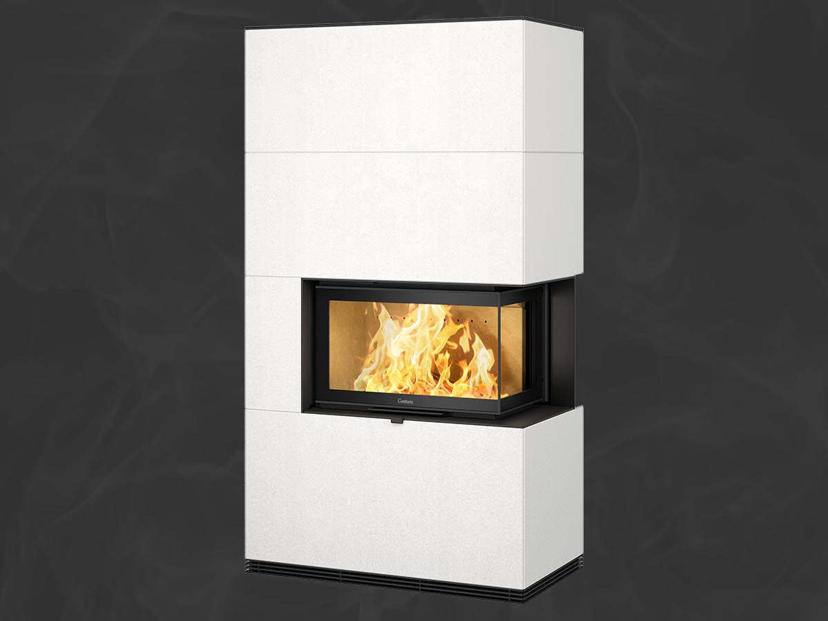 Contura i41A fireplace with Artstone