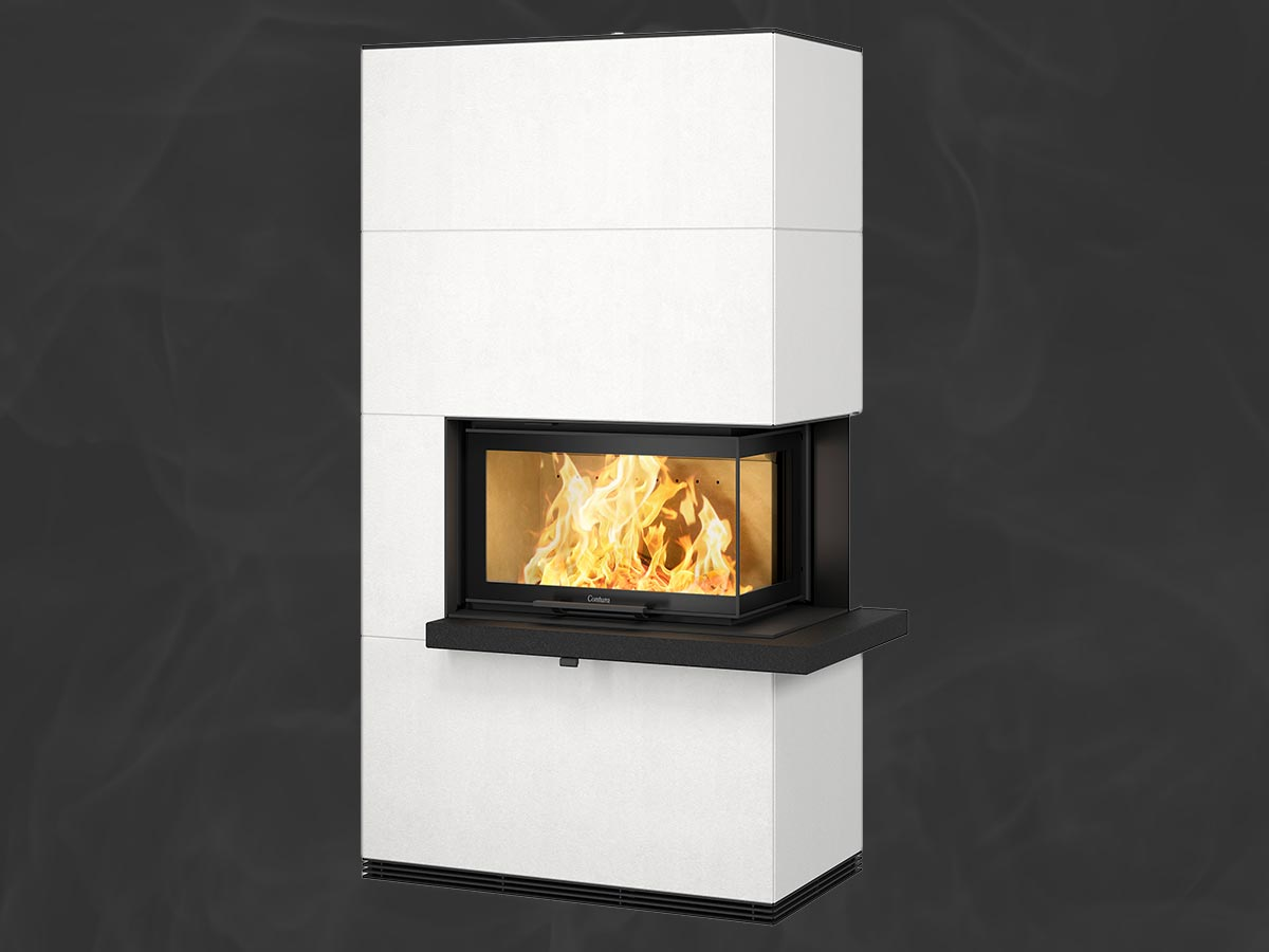 Contura i41A fireplace Artstone with granite shelf