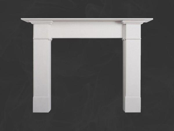 Claremont Limestone Fireplace Mantel