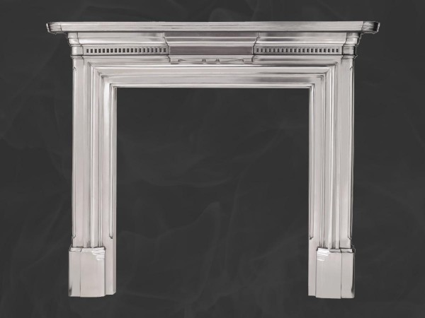 Full polished georgian cast iron mantel