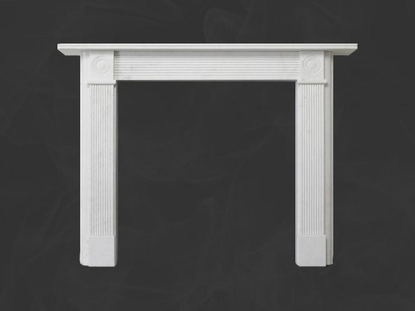 Georgian Roundel Stone Fireplace Mantel