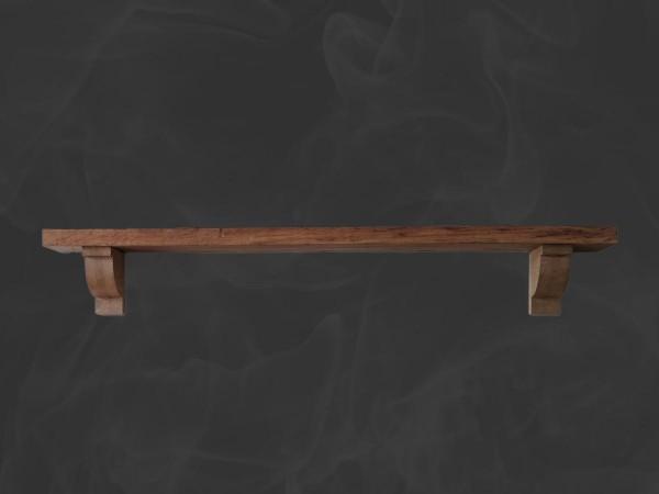 Oak Mantel Shelf with Corbels