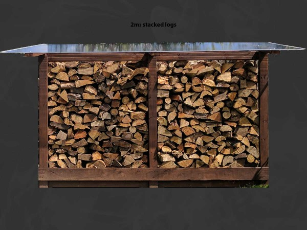 Medium Wooden Log Store