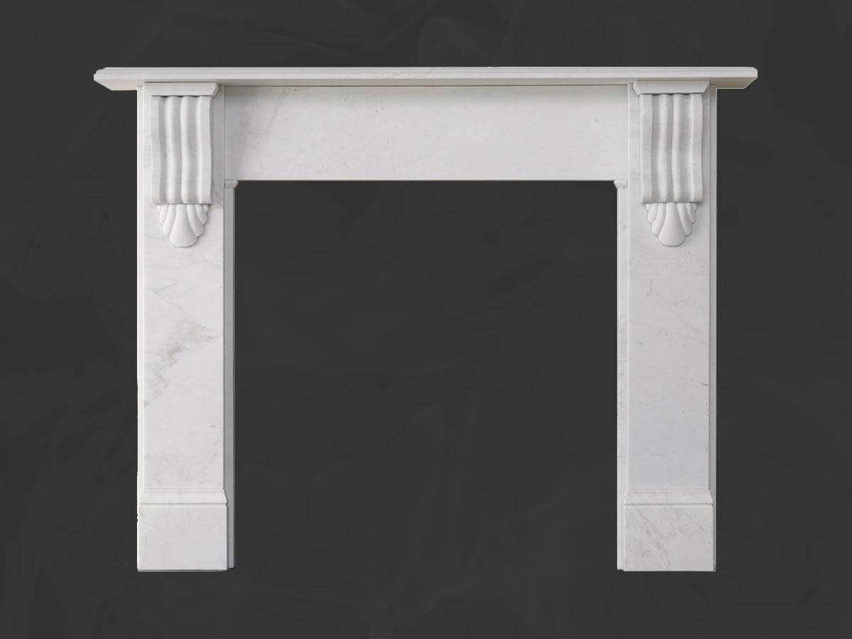 Victorian corbel mantel in antique marble