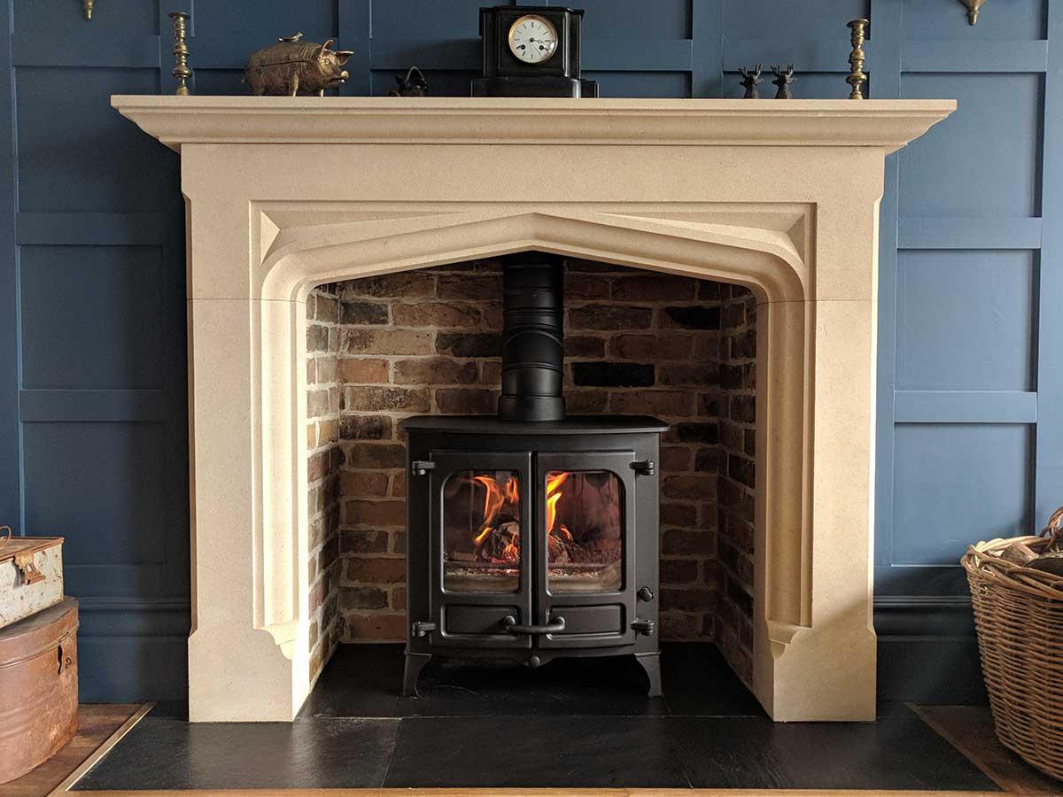 Bespoke stone fireplace 2