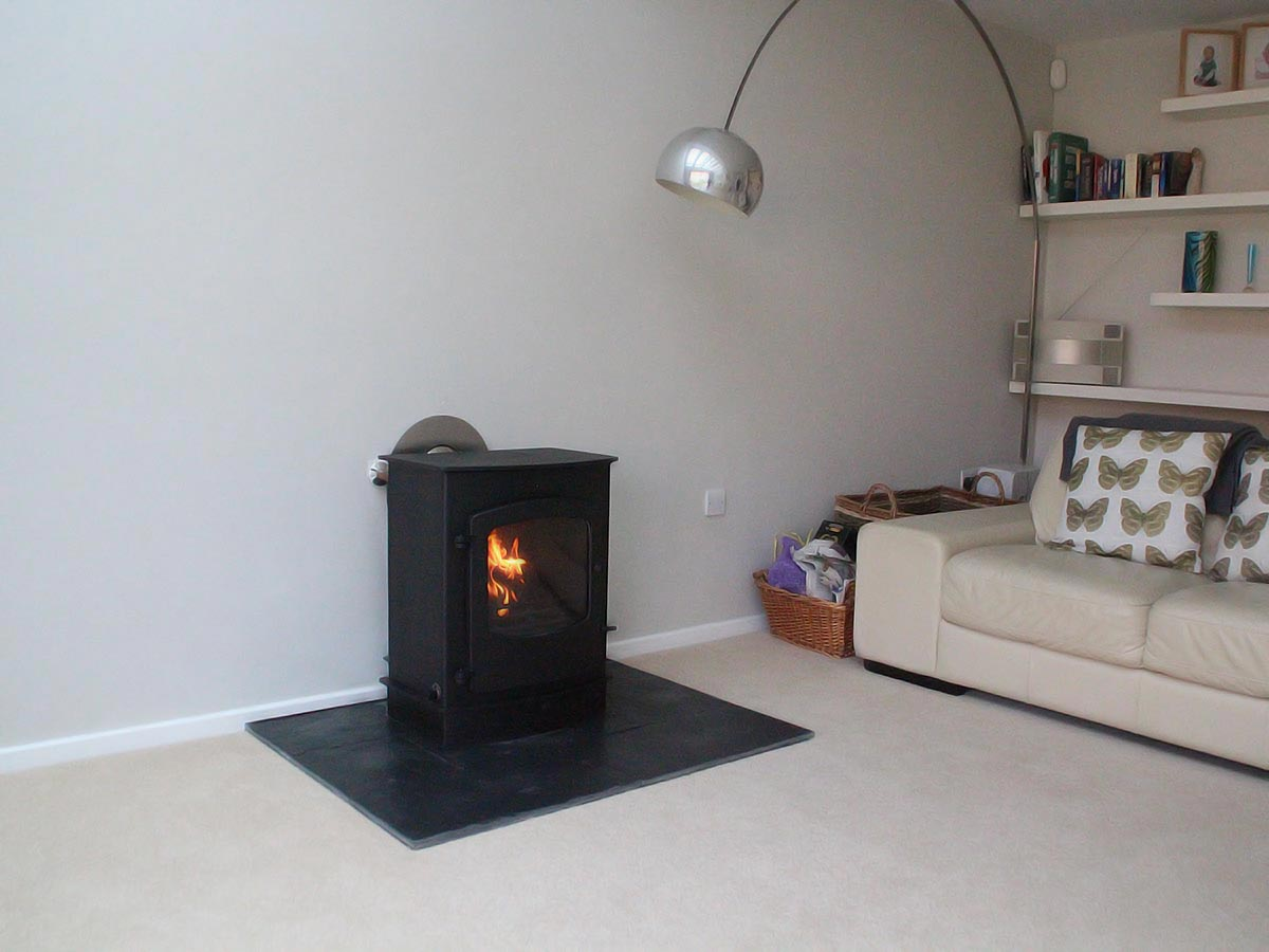 Plain fireplace with Charnwood Cove 2B