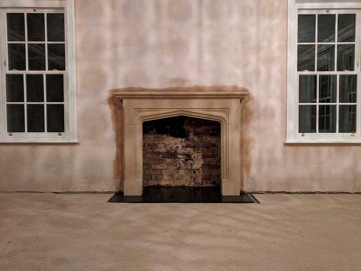 bathstone fireplace installation