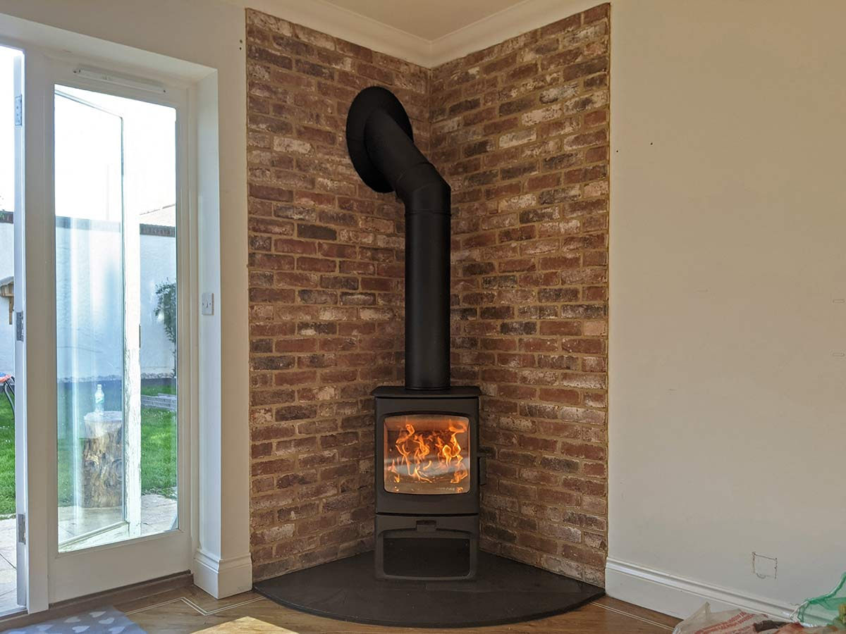 Aire 5 brick slip fireplace