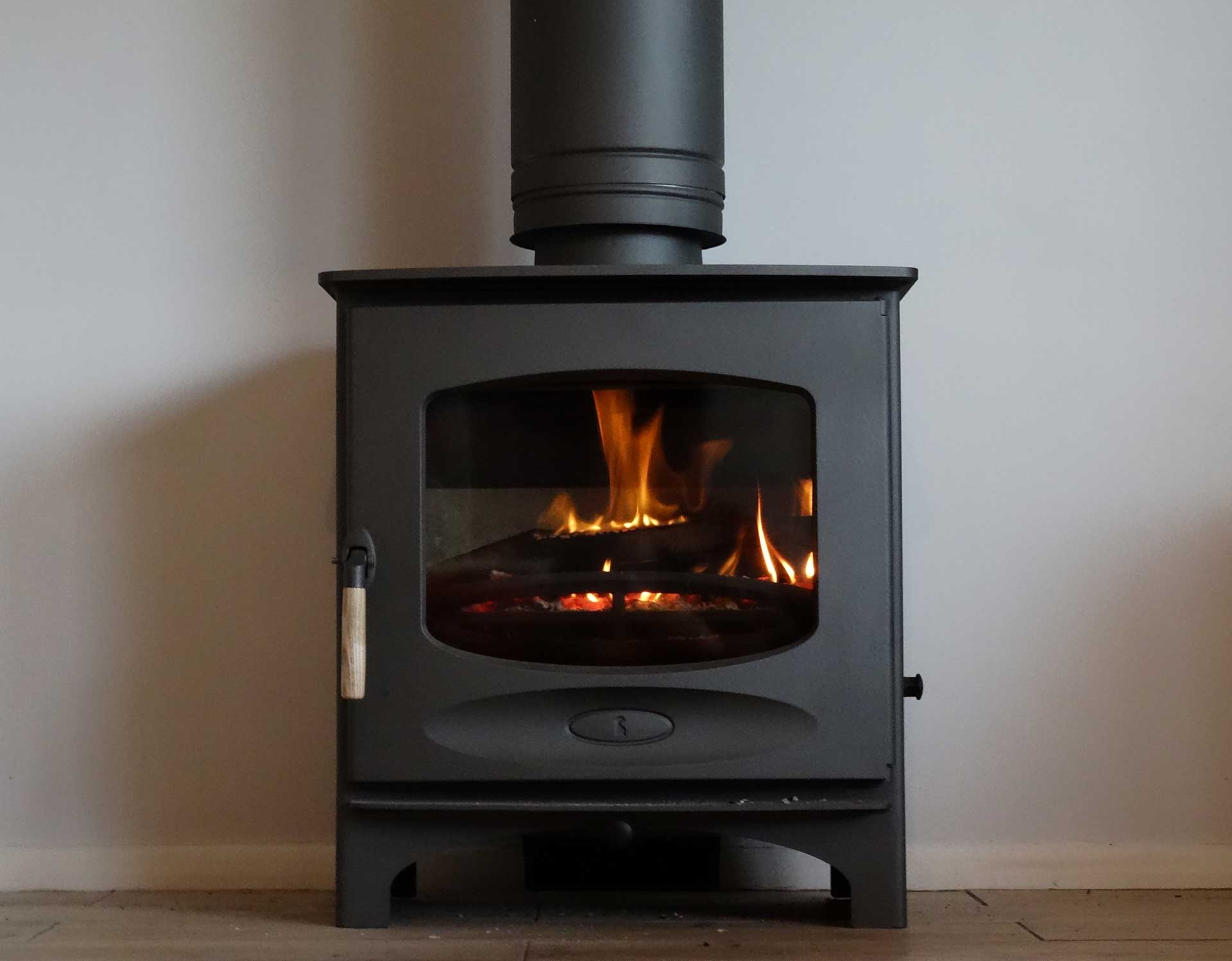 Close up of C seven stove