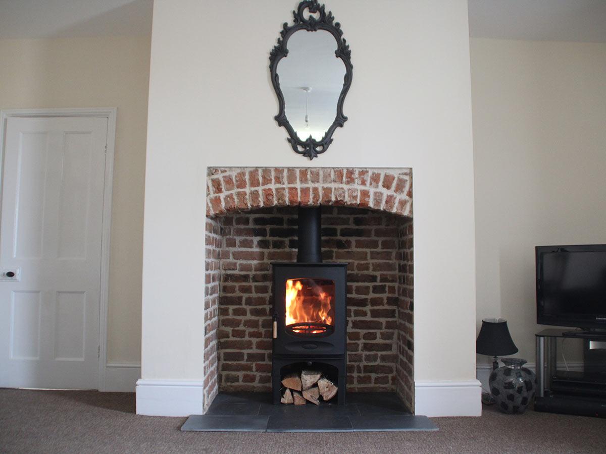 Georgian red brick inglenook Fireplace