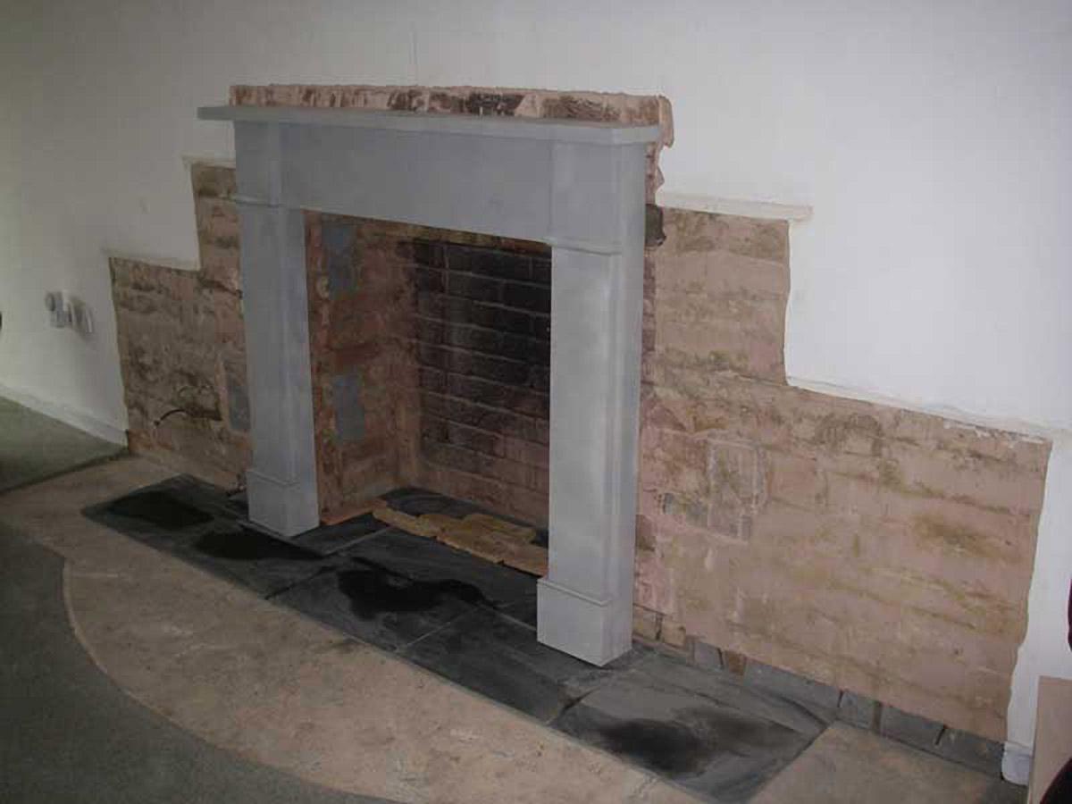 Fireplace surround installation