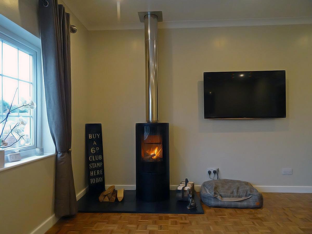 Contura 510 stove install