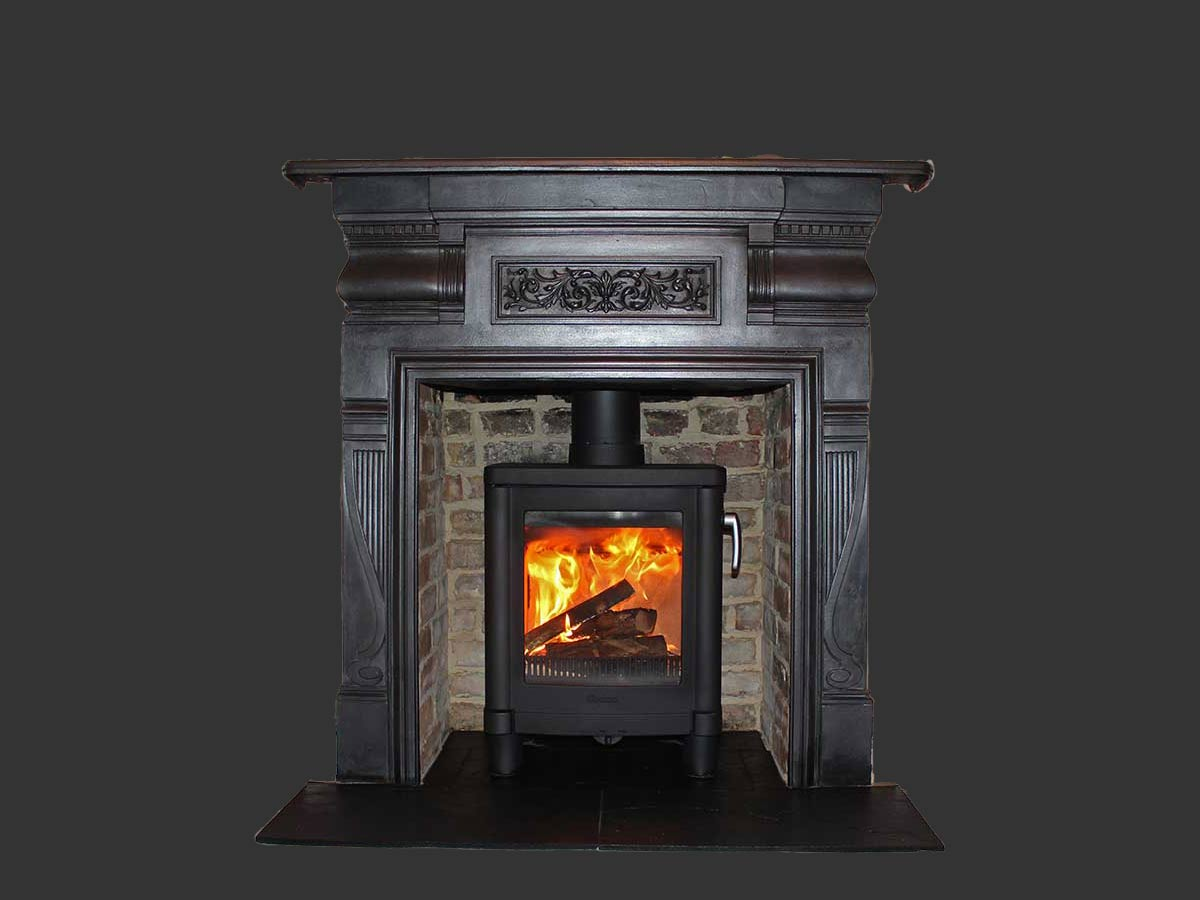 Antique fireplace installation
