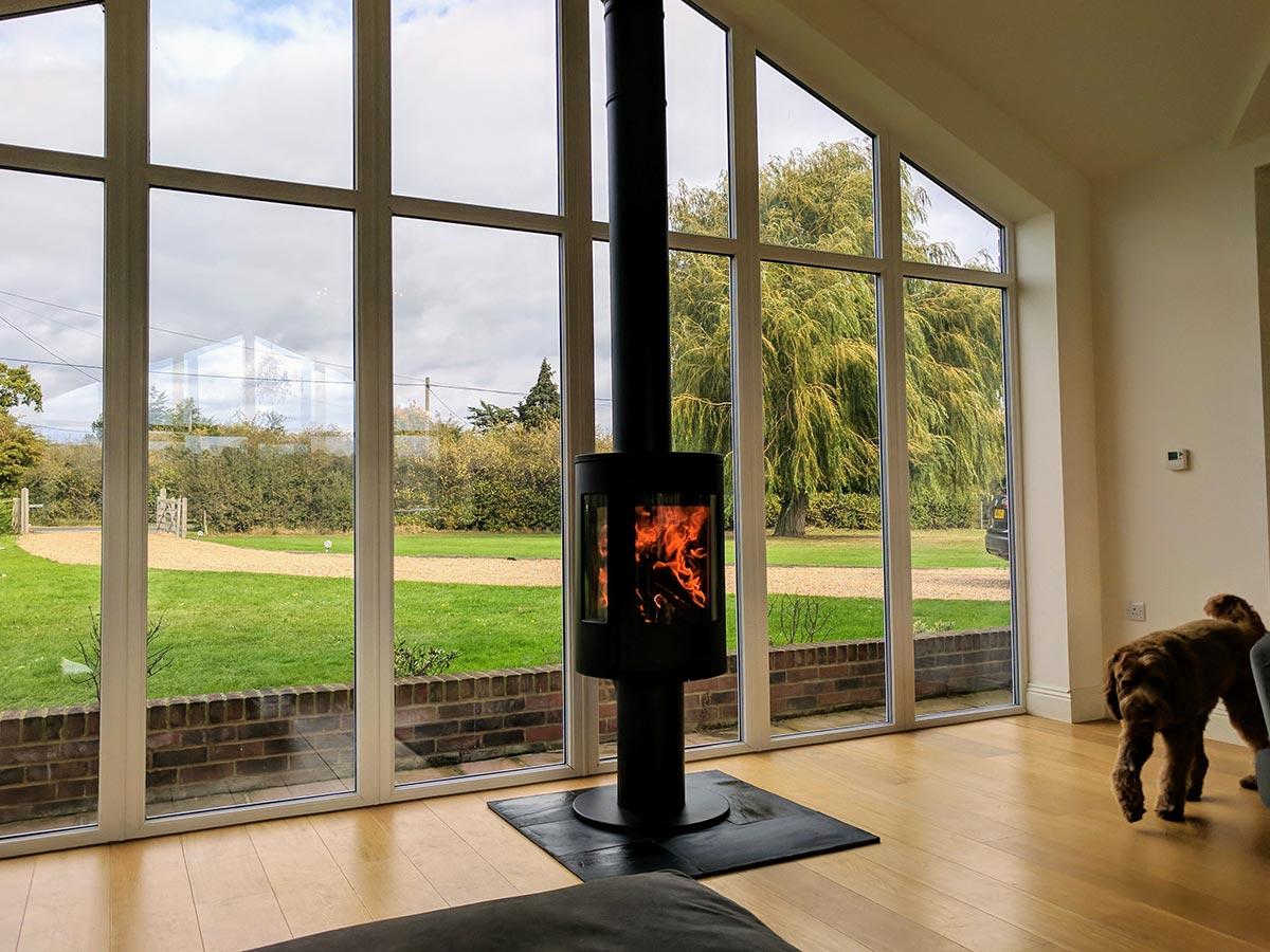 Contura 586G wood stove fireplace