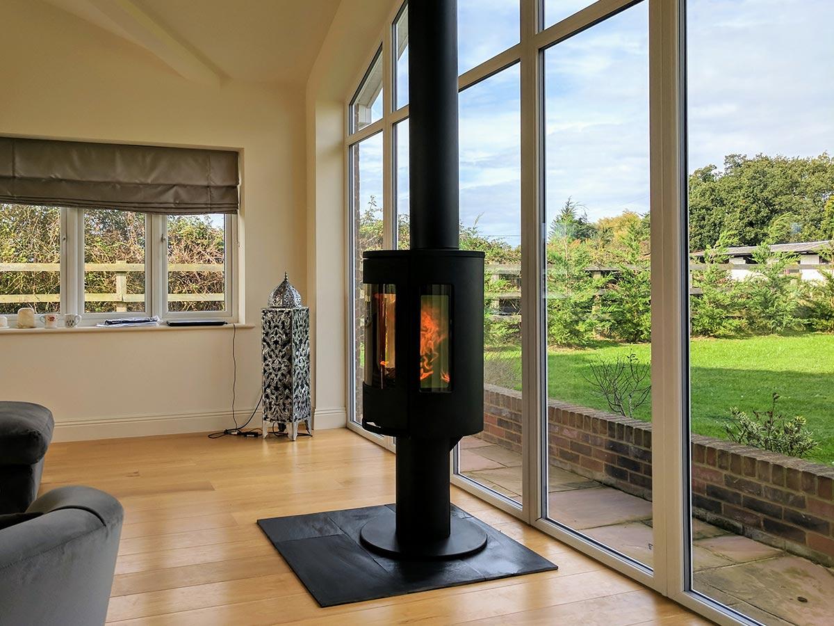 Contura pedestal stove Fireplace