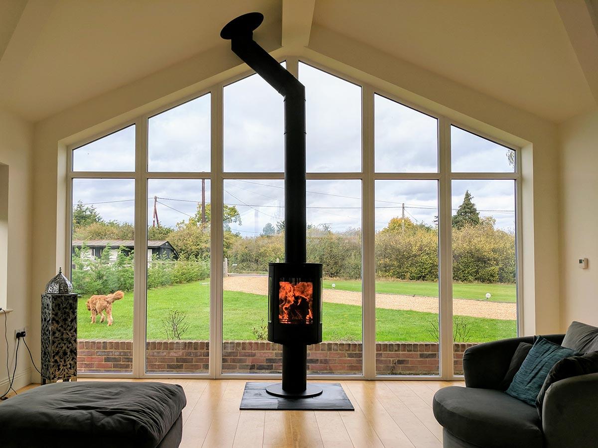 Contura modern looking fireplace