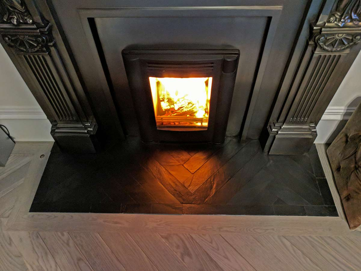 cast iron mantelpiece-Contura insert stove