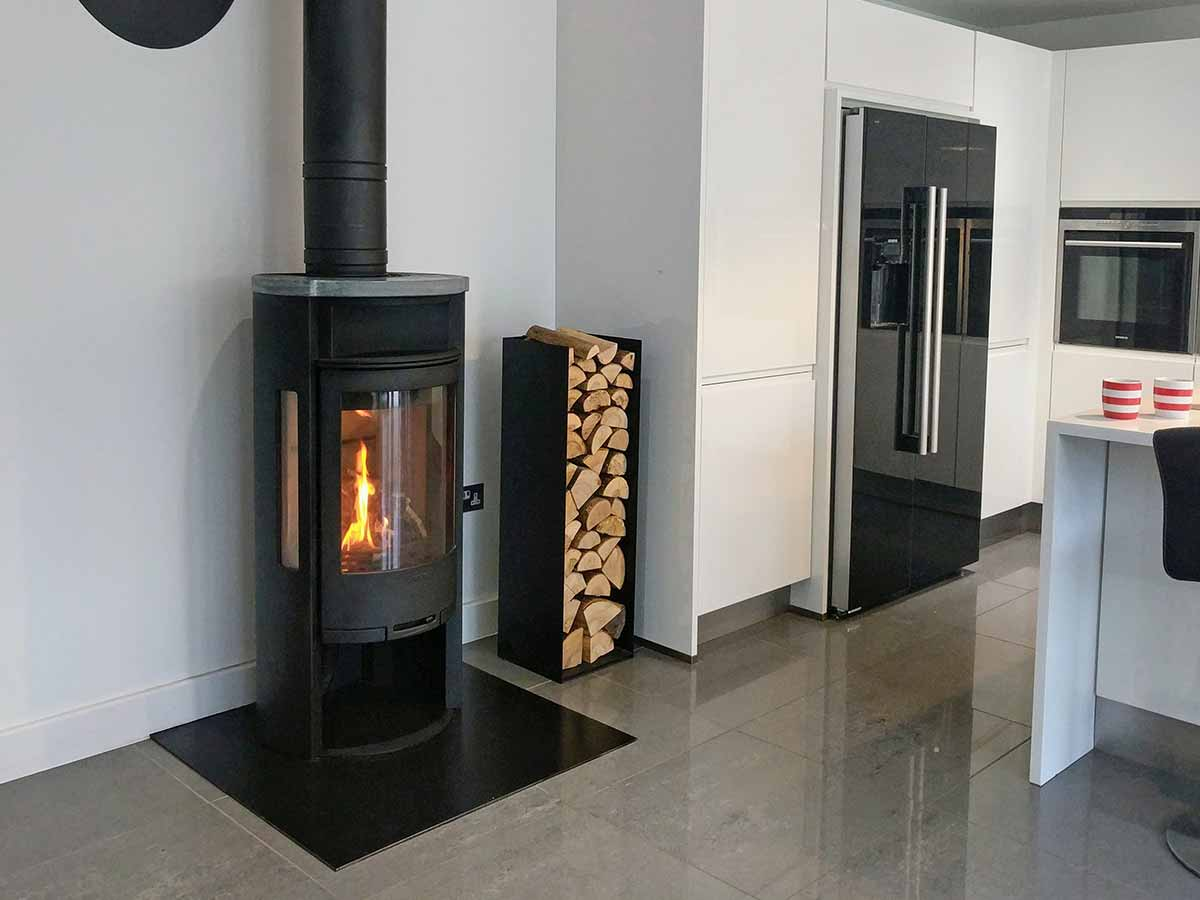 Contura 620 wood stove in Kitchen