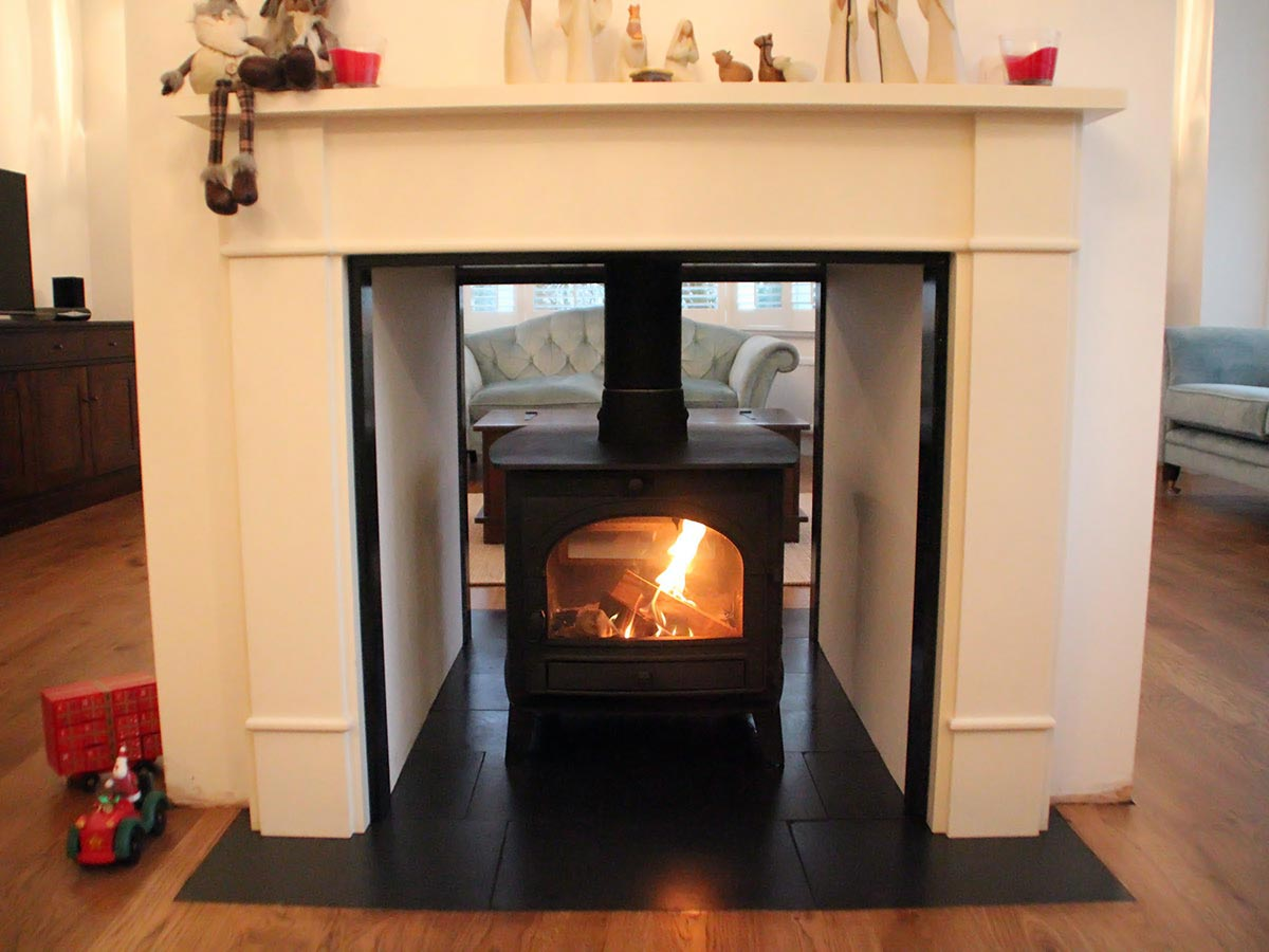 Double sided Parkray stove