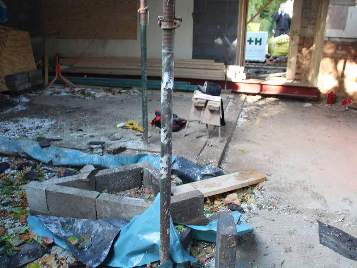 Chimney build start