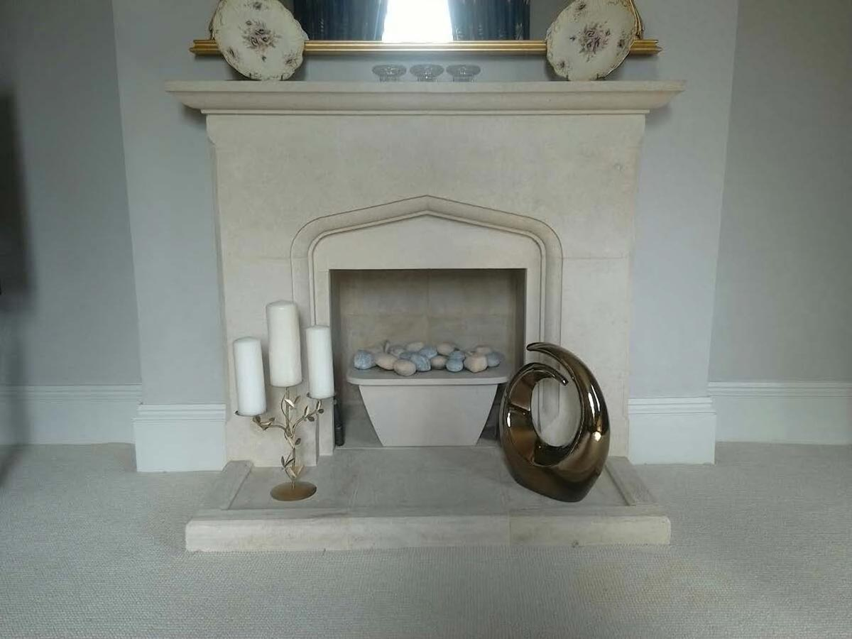 Fireplace Before stove installation
