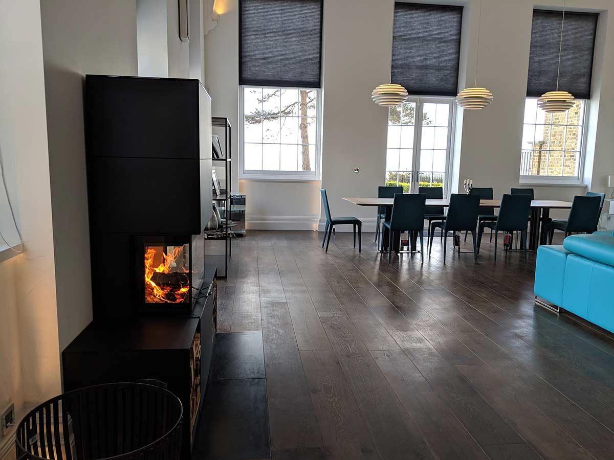 Contura fireplace install
