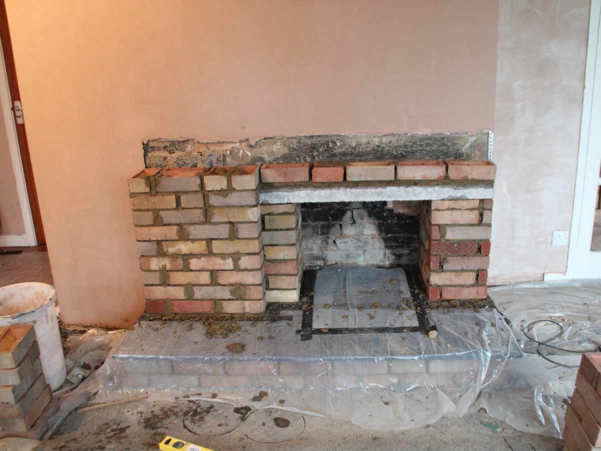 Building a contemporary fireplace