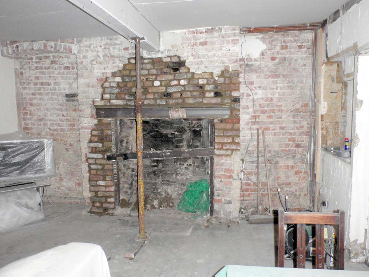 Inglenook Fireplace restoration project