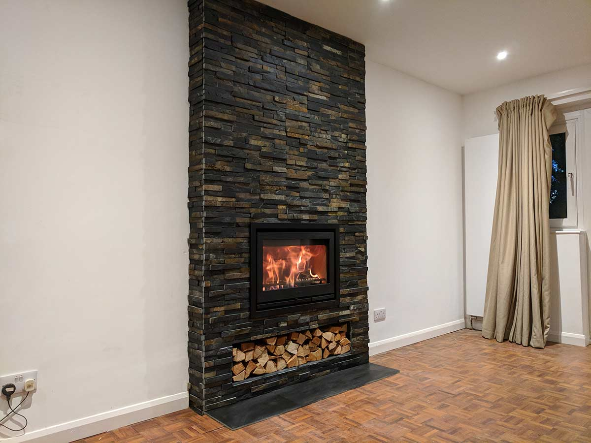 Contura i7 wood burning stove installation