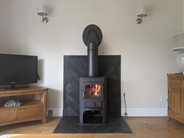 Solution 400 slate fireplace