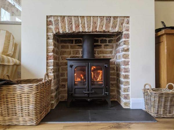 original brick fireplace chamber