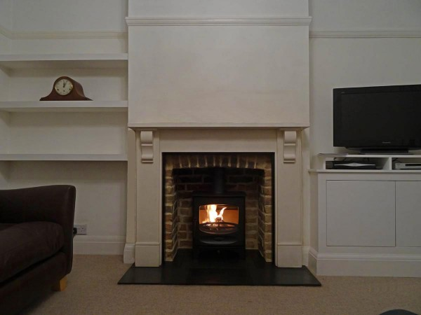 Limestone Victorian mantel with Charnwood c 5