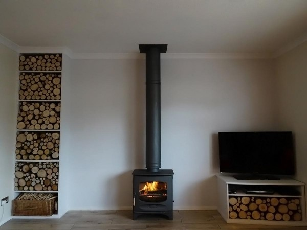 log store fireplace in Essex