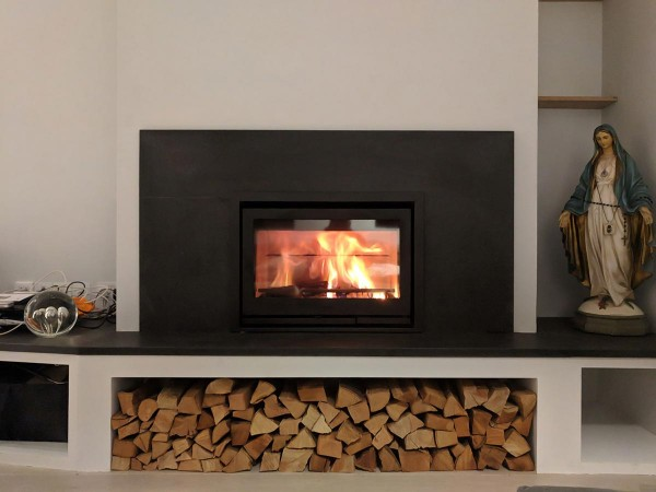 Insert stove fireplace with contura i7