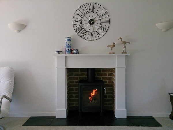 brick slip fireplace chamber with 51L