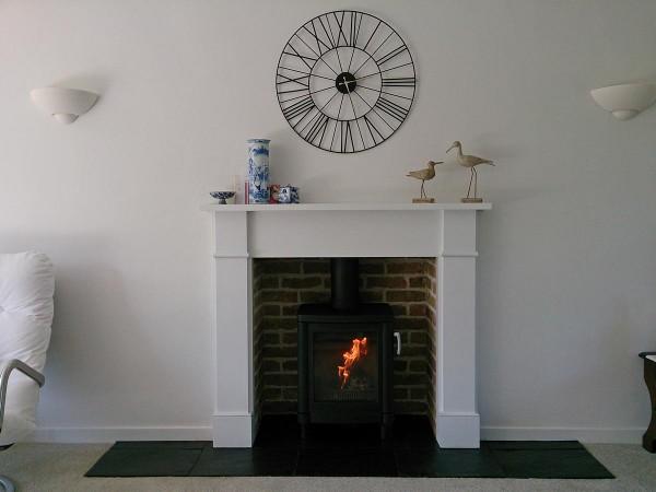 brick slip fireplace chamber with 51L