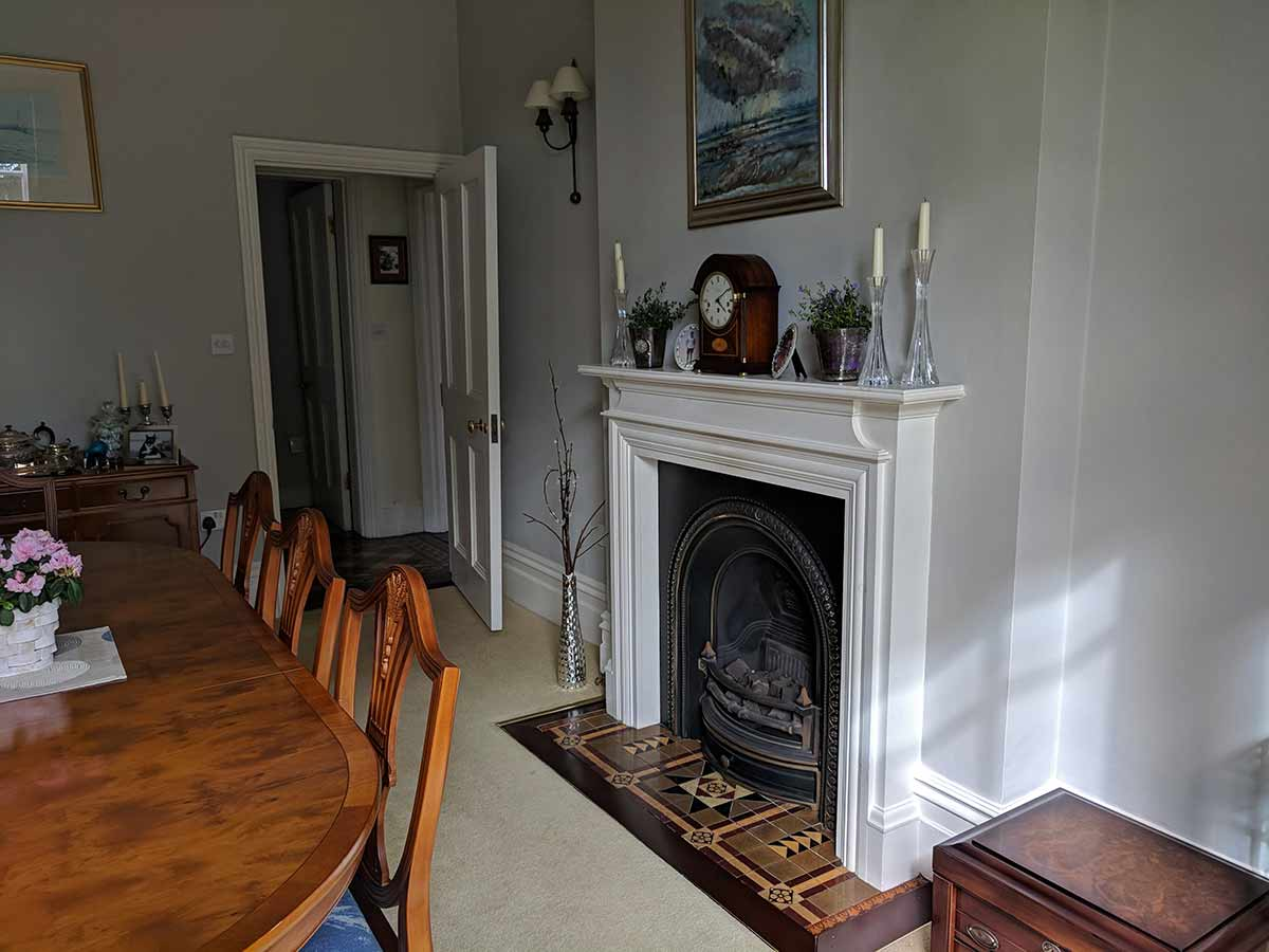 Cast iron antique fireplace gas fire